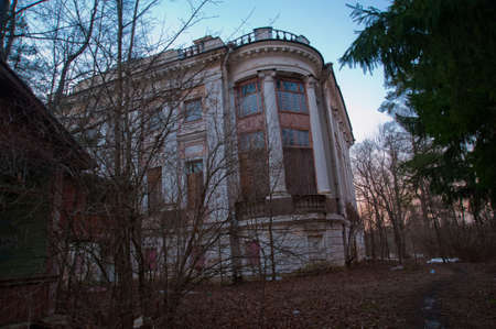 nobles: The brick building is destroyed the mansion in which the nobles used to live.Estate Demidovs in Thais Stock Photo