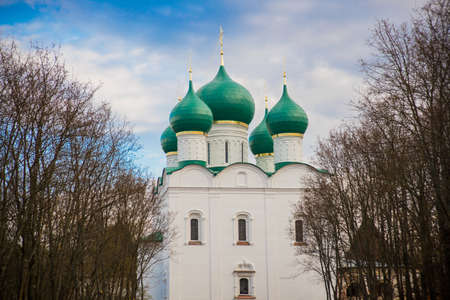 boris: Very old Orthodox churches on the territory of the temple complex Stock Photo
