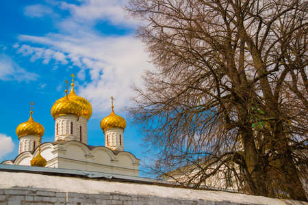 annunciation: Beautiful old Orthodox religious buildings.Spring, Sunny. Stock Photo