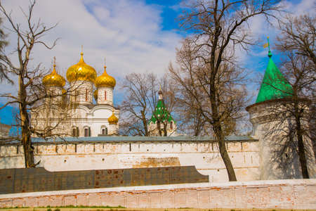destructed: Beautiful old Orthodox religious buildings.Spring, Sunny. Stock Photo
