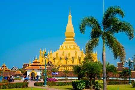 buddhist stupa: Residence PHA that Luang Luang Great stupa (Buddhist stupa)