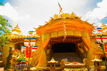 ganapati: Huge statues and Buddhist temple in the Park in Vietnam.Asia. Stock Photo