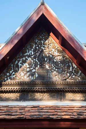 laotian: Beautiful ancient Buddhist religious knowledge, a fragment of the temple