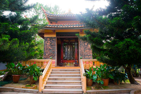 The ancient and beautiful religious buildings in the town of Dalat