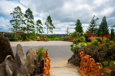 feudalism: The ancient and beautiful religious buildings in the town of Dalat