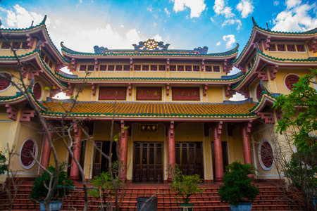 The ancient and beautiful religious buildings in the town of Da Nang