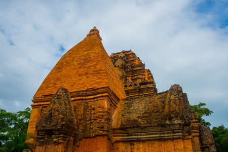 linga: Old brick religious building.Cham towers of po Nagar.Vietnam