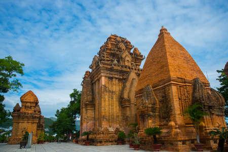 Old brick religious building.Cham towers of po Nagar.Vietnam photo