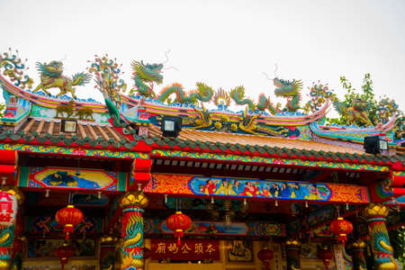 former years: Chinese temple. Stock Photo
