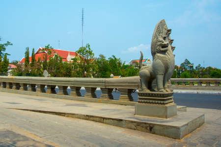 penh: The bridge.PHNOM PENH, CAMBODIA