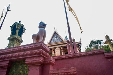 watt: Watt Phnom Temple Cambodia.Phnom Penh.
