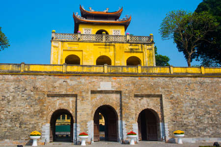 VIETNAM.Thang Long Citadel as a world heritage city famous in Hanoi