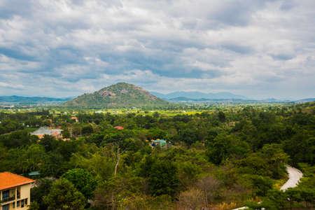 believers: Near mountain Ta Ku in Vietnam.Aerial view.Mui Ne, Phan Thiet, Vietnam.Mountain
