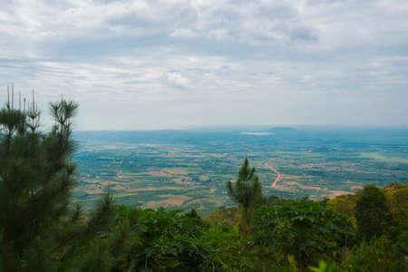 believers: Near mountain Ta Ku in Vietnam.Aerial view.Mui Ne, Phan Thiet, Vietnam. Stock Photo