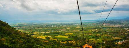 ta: Near mountain Ta Ku in Vietnam.Aerial view.Mui Ne, Phan Thiet, Vietnam. Stock Photo