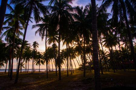 ne: Beautiful sunset above the sea of Vietnam, Mui Ne Stock Photo