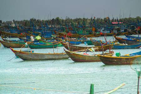 ne: fishing in fish village, mui ne, vietnam