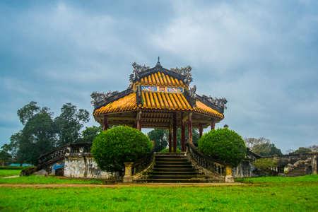 hue: small pavilion in Hue citadel , Vietnam Stock Photo