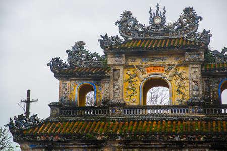 middle east fighting: Entrance of Citadel, Hue, Vietnam.
