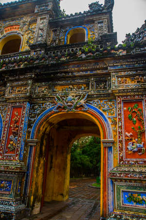 middle east fighting: Entrance of Citadel, Hue, Vietnam.