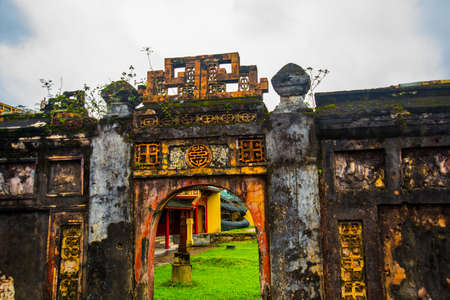 unified: HUE, VIETNAM.The Imperial City, Established as the capital of unified Vietnam in 1802 CE, its also the cultural and religious centre under the Nguyen Dynasty on Oct 20, 2014,old fortress