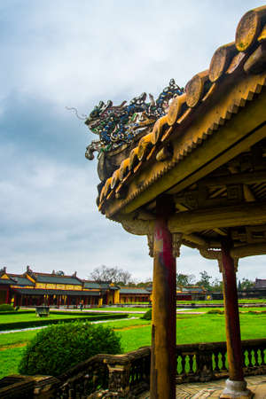 middle east fighting: HUE, VIETNAM.The Imperial City, Established as the capital of unified Vietnam in 1802 CE, its also the cultural and religious centre under the Nguyen Dynasty on Oct 20, 2014,old fortress
