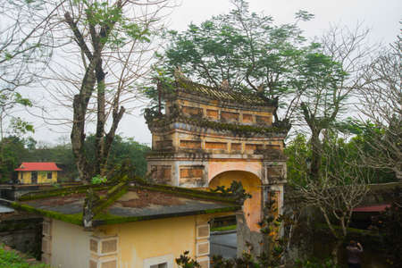 middle east fighting: stone archway.HUE, VIETNAM.The Imperial City, Established as the capital of unified Vietnam in 1802 CE, its also the cultural and religious centre under the Nguyen Dynasty on Oct 20, 2014,old fortress