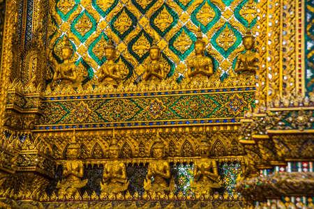 the gilding: Grand palace bangkok, THAILLAND.A fragment of decoration, texture,gilding