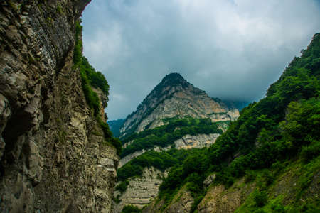 typically scottish: Beautiful mountains the summer.The Caucasus..Russia.