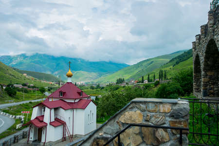 The monastery of stone, an old Church in the mountains. Alan Svyato-Uspensky monastery, which is located in Fiagdon. This is the highest Orthodox monastery in Russia.Hidixys.