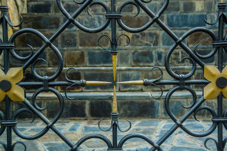 Forged fence, a fragment of decoration.The monastery of stone, an old Church in the mountains. Alan Svyato-Uspensky monastery, which is located in Fiagdon. This is the highest Orthodox monastery in Russia.Hidixys.