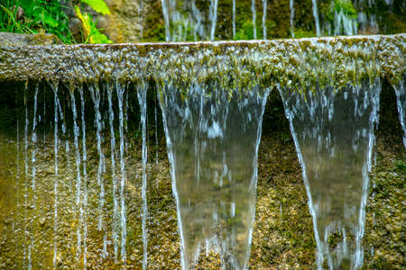 water jet: Water flows, water jet, lotsa stone down