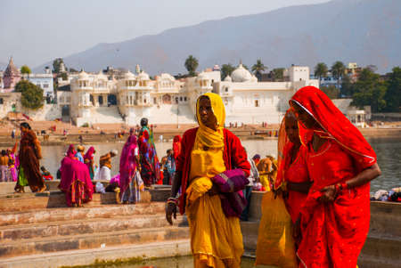 Pushkar is a city in the Ajmer district in Rajasthan, India. It is one of the five sacred dhams for devout Hindus. It is one of the oldest existing cities of India. Stok Fotoğraf