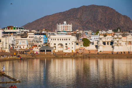 bikaner: View of the City of Pushkar, Rajasthan, India. It is one of the oldest existing cities of India.