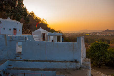 the existing: Pushkar is a city in the Ajmer district in Rajasthan, India. It is one of the five sacred dhams for devout Hindus. It is one of the oldest existing cities of India. Stock Photo