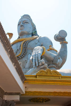 sea snake: Statue of Lord Shiva was built at Murudeshwar temple on the top of hillock which overlooks the Arabian Sea and it is 37 meters in height. Murudeshwar. Karnataka, India