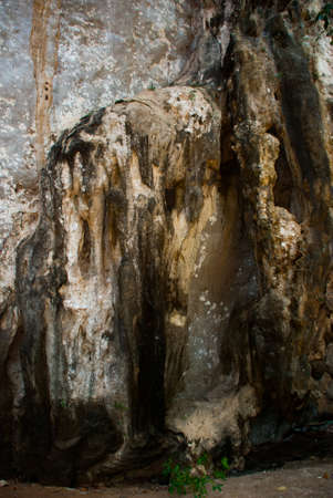 railay: Beautiful landscape. A huge cave on the Railay Peninsula. Krabi, Thailand.