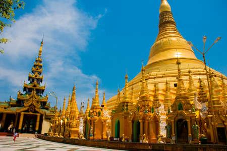 travelled: Myanmer famous sacred place and tourist attraction landmark - Shwedagon Paya pagoda. Yangon, Myanmar. Burma