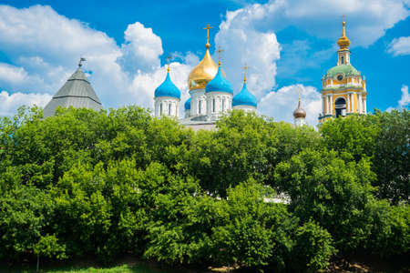 saviour: Novospassky Monastery is one of fortified monasteries surrounding Moscow from south-east. New monastery of Saviour. Stock Photo