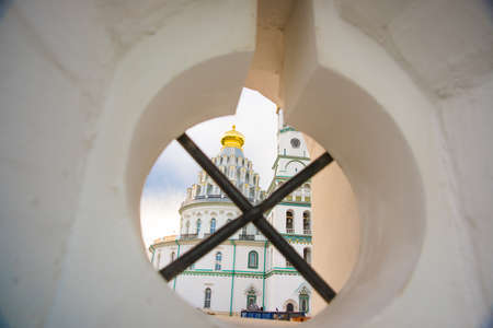 saviour: Novospassky monastery is one of the fortified monasteries surrounding Moscow from South-East. New monastery of the Saviour. Russia. Istra. Stock Photo