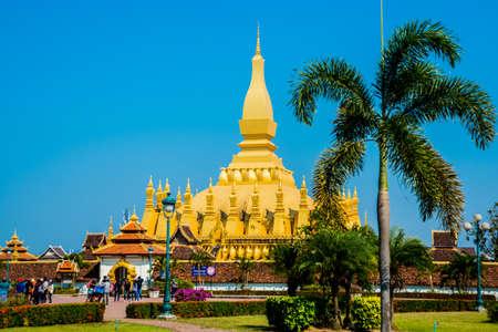 buddhist stupa: Residence PHA that Luang Luang Great stupa Buddhist stupa