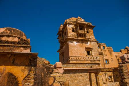 jagmandir: Chittorgarh Fort, Rajasthan, India. Chittorgarh Fort, the largest fort in India. Hindu Temple in the fort.