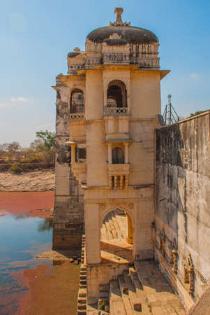 fort: Chittorgarh Fort, Rajasthan, India. Chittorgarh Fort, the largest fort in India. Hindu Temple in the fort.