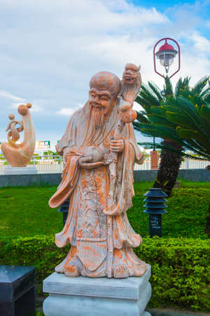feudalism: Unusual sculpture on the waterfront. Vietnam. Da Nang