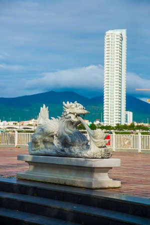 Unusual sculpture on the waterfront. Vietnam. Da Nang