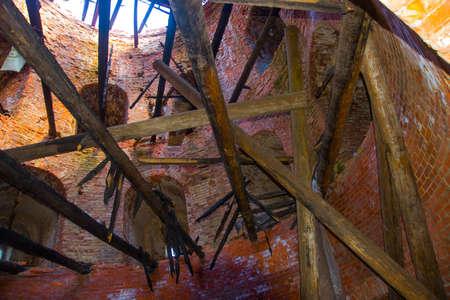 broken hill: tower and wall of the Kremlin, Veseluha tower Smolensk 2015
