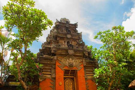 Very beautiful temple Balinese temple in Ubud. Bali. Indonesia. Stock Photo