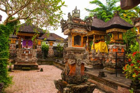 ubud: Very beautiful temple Balinese temple in Ubud. Bali. Indonesia. Stock Photo