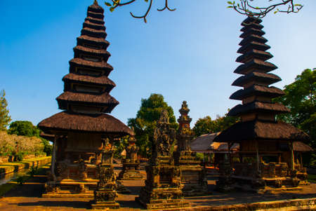 spiritual architecture: Traditional and revered Temple of Taman Ayun in Bali. Indonesia. Stock Photo