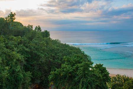 Pabang Pabang beach, where they filmed the movie Eat, pray, love Julia Roberts. Bali, Indonesia Stock Photo